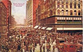 postcard-chicago-state-street-noon-hour-huge-crowd-and-traffic-jam-stunning-1914